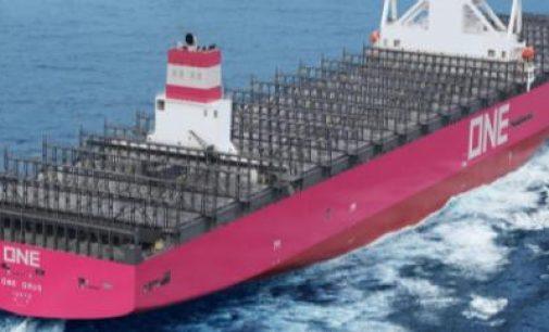 Ocean Network Express incorpora a su flota el One Grus, un portacontenedores de 14.000 teu