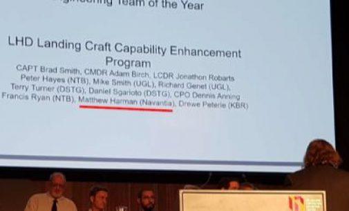Navantia recibe el premio al equipo de ingeniería del año de Australia