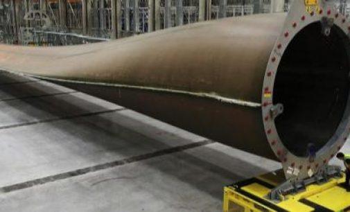 Construída la pala de aerogenerador más grande del mundo