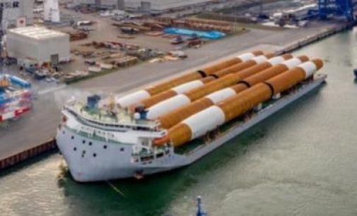 Transportados los 20 monopilotes del proyecto Formosa 1 OWF