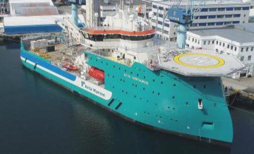Acta Marine recibe un nuevo buque de apoyo a plataformas