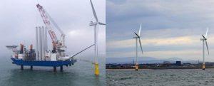 Desmantelan el parque eólico marino de Gran Bretaña, el Blyth