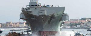 Botadura del LHD Triestre de la marina italiana
