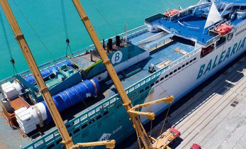 Ya están instalados los tanques GNL en el ferry Abel Matutes de Baleària