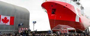Botadura del segundo buque de investigación pesquera de la Guardia Costera canadiense