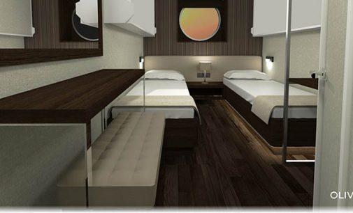 Oliver Design lleva a cabo el proyecto de interiorismo del nuevo ferry de Trasmediterránea