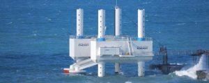 Dispositivo undimotriz Wavestar para parques eólicos