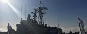 """La fragata """"Navarra"""" ha atracado en la Base Naval de Rota tras cinco meses y medio desplegada"""