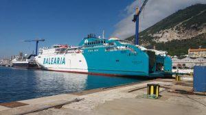 Baleària trabaja en la conversión del Bahama Mama a LNG
