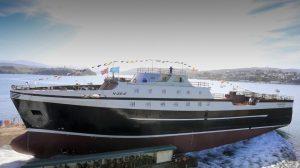 Astilleros Gondán bota un nuevo buque congelador factoría