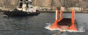 La empresa vasca Arrecife instala su dispositivo undimotriz en BiMEP