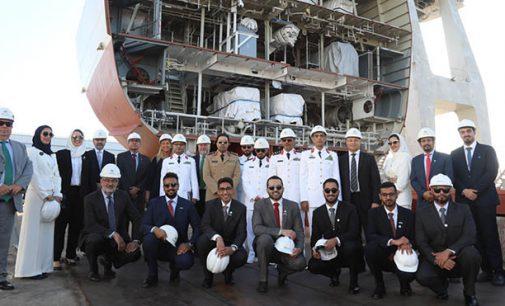 Navantia San Fernando pone la quilla de la primera corbeta para Arabia