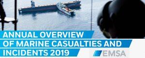 Informe anual 2019 de EMSA sobre accidentes marítimos
