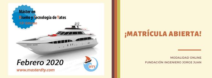 Matrícula abierta para la 15ª edición del Máster en Diseño y Tecnología de Yates (DTY)