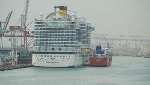 El Costa Smeralda respostará GNL en Barcelona
