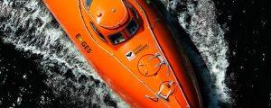E-GES: bote salvavidas de caída libre eléctrico