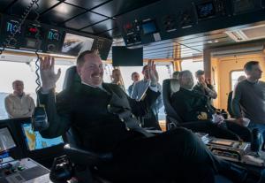 Primer servicio de tránsito adaptativo del Ferry Bastø Fosen VI con pasaje a bordo