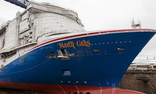 Meyer Turku pone a flote el crucero Mardi Gras de Carnival Cruise