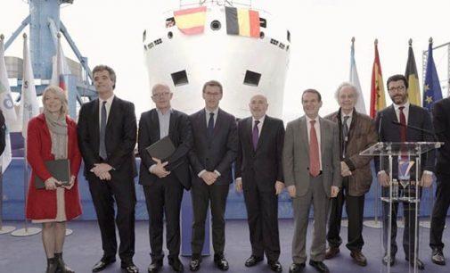 Freire bota el nuevo oceanográfico belga