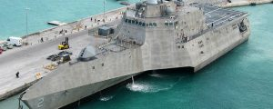 Puesta de quilla del 30º buque de combate literal USS Canberra