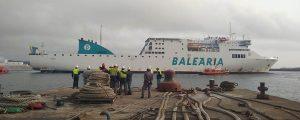 Baleària inicia la remotorización del ferry Sicilia
