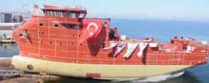 Botadura del nuevo SOV para MHI Vestas en el astillero turco Cemre