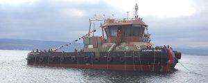 Botadura del remolcador Caspian Fauna diseñado por Seaplace