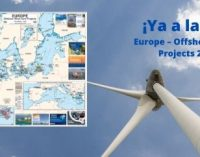 Disponible el mapa de los parques eólicos marinos europeos