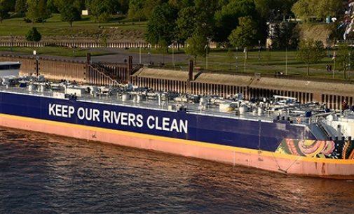 Estos son los tres buques fluviales más grandes del Rin