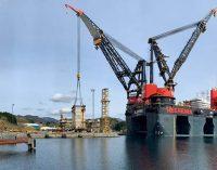 El buque grúa a GNL Sleipnir completa el desmantelamiento de Ekofisk 2/4A