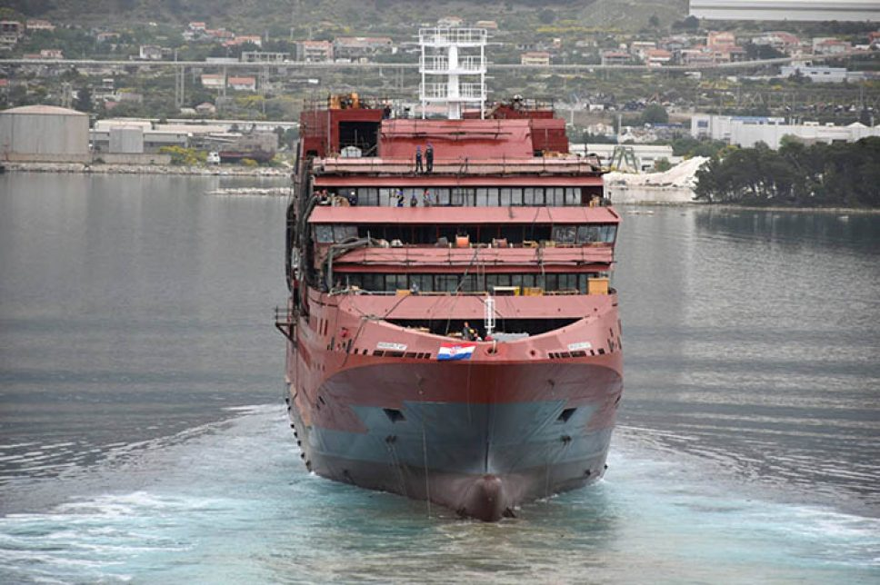 Botadura del crucero de expedición polar Ultramarine