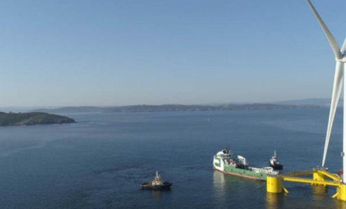 Transporte del último de los aerogeneradores del parque eólico flotante WindFloat Atlantic