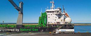 Transporte de hierro por mar con biocombustible