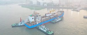 Botadura del primer buque de suministro de GNL de Singapur