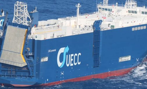 El ro-ro más grande del mundo a GNL hizo escala en el puerto de Vigo