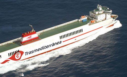 Naviera Armas Trasmediterránea renombra el buque Jose M. Entrecanales en homenaje a la Villa y Puerto de Tazacorte