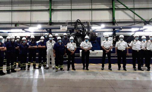 Navantia San Fernando corta la primera chapa de la quinta corbeta del programa de Arabia