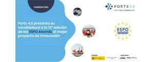 Ports 4.0 presenta su candidatura al mejor proyecto de innovación promovido por ESPO