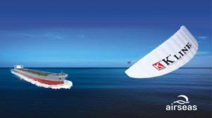 El sistema de cometas Seawing para propulsión eólica de buques, aprobado por ClassNK