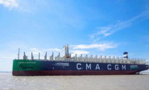 CMA CGM recibirá el buque propulsado por LNG mas grande del mundo