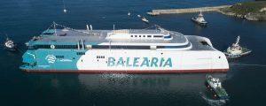 Botadura del fast ferry Eleanor Roosevelt de Baleària