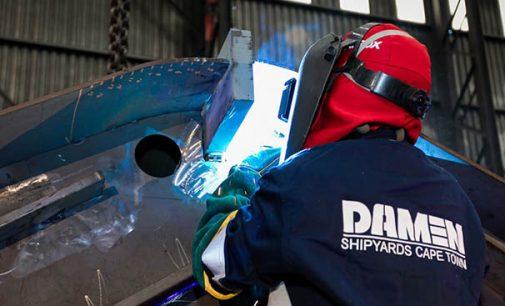 Puesta de quilla del nuevo buque de la Armada sudafricana