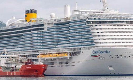 Costa Cruceros completa la primera operación de abastecimiento de combustible de GNL en Italia