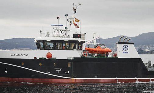 El buque de investigación pesquera y oceanográfica Mar Argentino construido por Armón se incorpora a la flota del Inidep