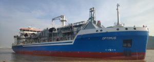 Vídeo de la botadura del buque de suministro de GNL Optimus