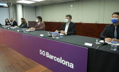El puerto de Barcelona prueba '5G Maritime'
