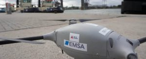 Así opera el dron de EMSA en el puerto de Amberes