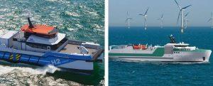 Piriou presenta su nuevo diseño de un buque cablero y su CTV propulsado a H2