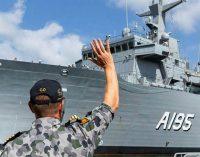 El AAOR Supply, construido por Navantia, llega a la Base Naval de Sydney