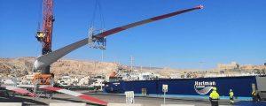 Cuarto envío de palas eólicas fabricadas en España de Almería a un parque eólico de Alemania